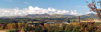 View of Pentlands from Newtongrange